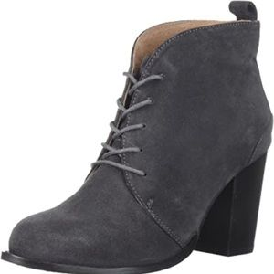 Seychelles Tower Gray Lace Up Suede Booties 8.5